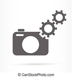 camera settings gears icon