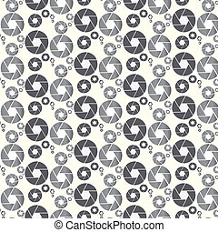 Camera shutter aperture pattern vector background