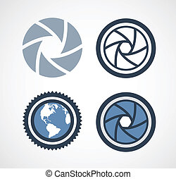 camera shutter vector illustration