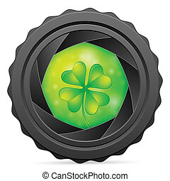camera shutter with clover