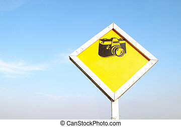 camera sign blank for text