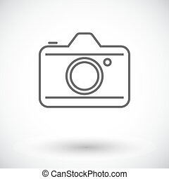 Camera. Single flat icon on white background. Vector ...