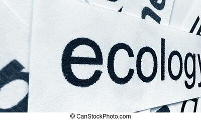 Camera slide on ecology word cloud