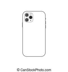 Camera smartphone device icon simple design