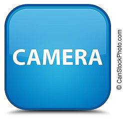Camera special cyan blue square button