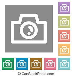 Camera square flat icons