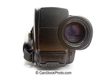 camera - Old handy camera isolated in white background