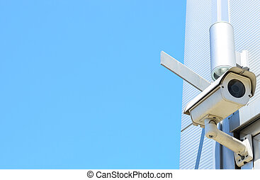 Camera system on building
