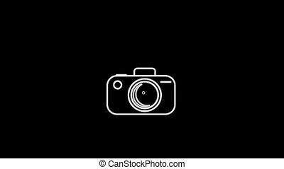 Camera Thin Icon With Alpha Channel