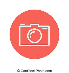 Camera thin line icon for web and mobile minimalistic flat...