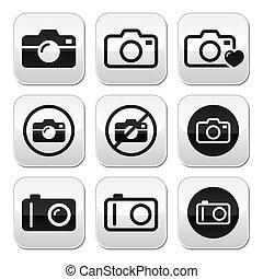 Camera vector buttons set