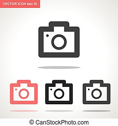 camera vector icon isolated on white background