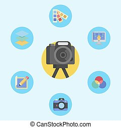 Camera vector icon sign symbol