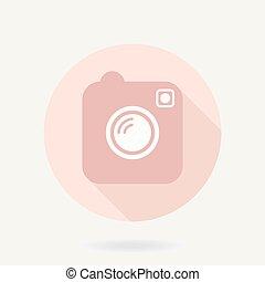 Camera Vector Icon With Shadow