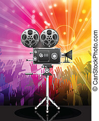 Vector illustration of movie camera.