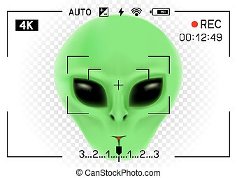 camera viewfinder alien