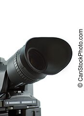 Camera Viewfinder Closeup. Viewfinder Isolated on White. ...