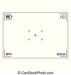 Camera viewfinder. Day mode Editable Stroke.