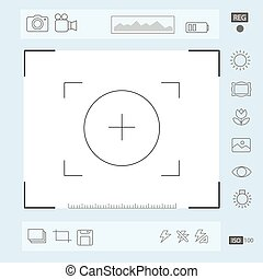 Camera viewfinder display, Exposure and composition focus, electronic zoom,  portrait vector