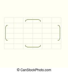 Camera viewfinder grid