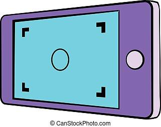 Camera viewfinder icon cartoon