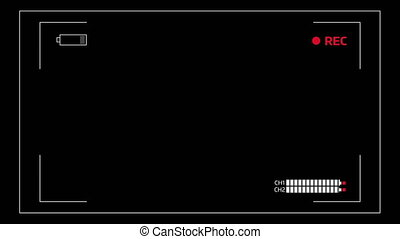 Camera viewfinder overlay display