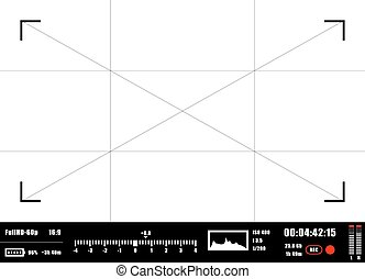 Camera viewfinder rec background. Camera focusing screen. - ...