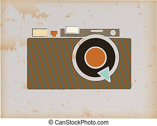 Grunge Camera Vector : Grunge icon vintage camera. vintage camera icon in grunge texture