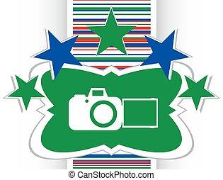 camera web icon isolated on white background