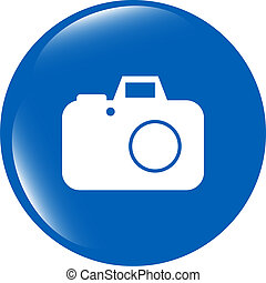 camera web icon isolated on white background