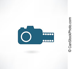 camera with film icon