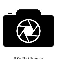 Camera with focus of lens concept icon black color vector illustration flat style image