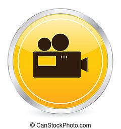 camera yellow circle icon
