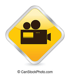 camera yellow square icon