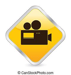 camera yellow square icon