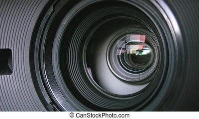 Camera zoom.
