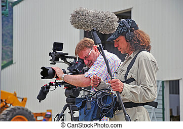 Cameraman at work