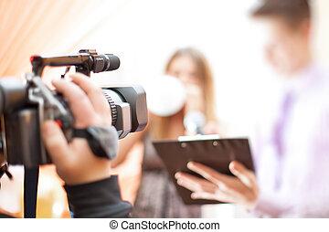 cameraman, no trabalho