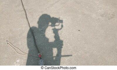 cameraman, ombre, série film