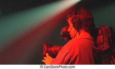 cameraman shooting concert
