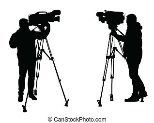 cameraman, silhouettes