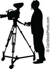 cameraman, silueta