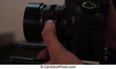 Erotic shooting backstage. Stock video footage HD / 1920-1080 / MOV / Codec H.264 / 25 fps.