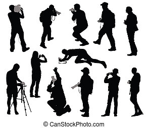 Cameramen - Silhouettes of people taking photos