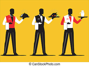 cameriere, 3, parata