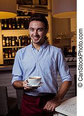 cameriere, caffè, lavorativo