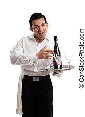 cameriere, gioviale, barista, o