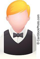 cameriere, persone, -, avatar, icone
