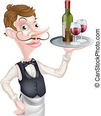cameriere, vino