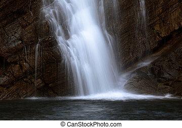 Cameron Falls in Waterton Lakes National Park of Alberta